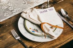 Maybe can include thank you note on back of menu?