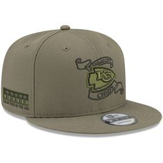 f9d8c6b6c4c Men s Kansas City Chiefs New Era Olive Crafted in the USA 9FIFTY Adjustable  Hat