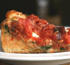 """Deep Dish Pizza: """"I love Chicago deep-dish pizza and have wanted to try to make it myself. It turned out amazing! It cooked perfectly in a cast-iron skillet."""" -Chef #1802460597"""