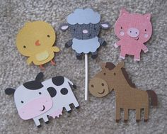 farm animal cupcake toppers make guinea pig medallions?