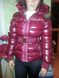 Cool Jackets, Jackets For Women, Mudding Girls, Nylons, Vinyl Trousers, Women's Puffer Coats, Down Suit, Puffy Jacket, Mohair Sweater