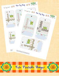 Tag printable Fairy, Cute Tag, Tag  Gift, Tag Kawaii, TAG-THGR-9 de CutePrintableDesigns en Etsy