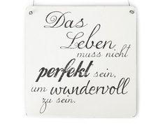 XL Shabby Vintage Schild DAS LEBEN MUSS NICHT PERFEKT SEIN Dekoschild Landhaus Cottage Impression: Amazon.de: Küche & Haushalt