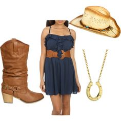 pretty blue and nice hat dressy and old looking boots love!!!!!!!!!!!!!