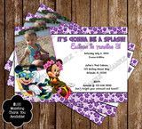 Disney Mickey & Minnie Mouse Pool Party Invitation with Photo