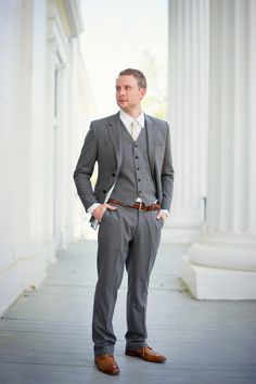 O'ahu Wedding from Kai-Photo Hawaii | Grey suit brown shoes, Grey ...