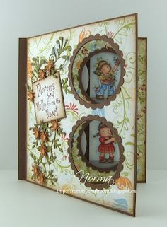 This is the intermediate level to my peek-a-boo card tutorial ( HERE ). Just kidding! This is just another variation . Card Making Templates, Card Making Tutorials, Making Ideas, Fancy Fold Cards, Folded Cards, Peek A Boo, Slider Cards, Magnolia Stamps, Interactive Cards
