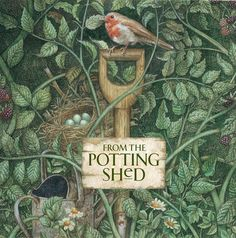 The Potting Shed watercolor on wood Love Garden, Garden Pots, Garden Gear, Garden Houses, Shed Signs, Potting Sheds, Potting Benches, Watercolor On Wood, Outdoor Sheds