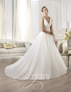 pronovias wedding dresses 2014 atelier yesel sleeveless princess ball gown,  love the flow! ec6e0c50c32