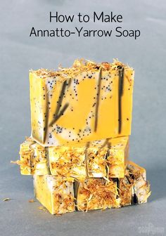 Annatto-Yarrow Soap with Embeds on Soap Queen TV
