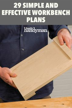 29 Simple and Effective Workbench Plans Woodworking Skills, Woodworking Magazine, Woodworking Workshop, Woodworking Bench, Woodworking Projects, Woodworking Videos, Wood Projects, Youtube Woodworking, Woodworking Techniques