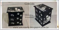 Cômoda com detalhes em relevo - mdf madeira - perfeita para guardar seus acessórios em grande estilo. http://www.amocarte.blogspot.com.br/