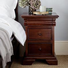 Geneva mahogany bedside cabinet