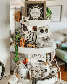 If you seen in my stories yesterday I was not on IG hardly at all - as I am under the weather. I am going to rest today because my hubby and I are suppose to go out of town on a weekend American Farmhouse, Farmhouse Style, Tray Decor, Hallows Eve, Vignettes, Weather, Thursday, Halloween, Holiday Decor