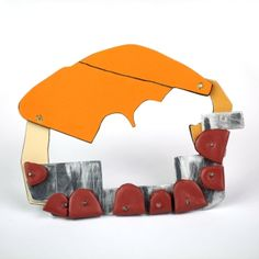 """""""Excessive Excess"""" Brooch by Vanessa Arthur - masterworks gallery -"""