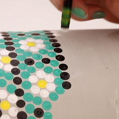 Bring the dot painting trend to your outdoor spaces with this fun DIY Dot Painted Planter! Learn how to make your own cute planter with this step-by-step video tutorial. Diy Art Projects, Diy House Projects, Mosaic Planters, Mosaic Tiles, All You Need Is, Penny Tile, Pressed Flower Art, Dots Design, Mosaic Designs