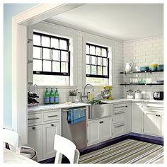 復古又具極簡風格的美式廚房濺背牆建材~地鐵磚 @ 『愛戀古典』寶哥的鄉村風戀家誌 :: 隨意窩 Xuite日誌