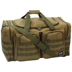 Heavy-Duty Tactical Duffle Bag Mens Overnight Luggage Carry On Camping Tote