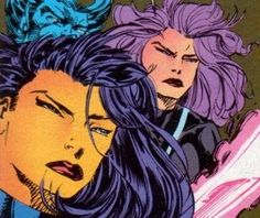 Japanese assassin who infamously swapped bodies with the X-Man Psylocke. Briefly becoming an X-Man, Kwannon contracted the Legacy Virus and died, got better, got her body back and now goes by Psylocke. Misty Knight, Heroes For Hire, Moon Knight, Luke Cage, Comic Books Art, Book Art, Psylocke, Paladin, Punisher