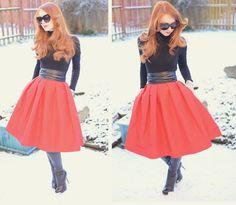 red Tibi full taffeta skirt- GORGEOUS!