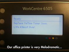This printer clearly has the blues...