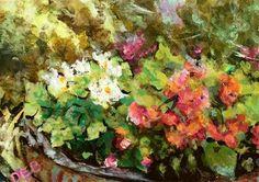 "Daily+Paintworks+-+""Timothys+Floral""+-+Original+Fine+Art+for+Sale+-+©+Debbie+Yacenda"