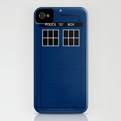 The Doctor is in..... ( Doctor Who ) iPhone Case by Adam James - $35.00