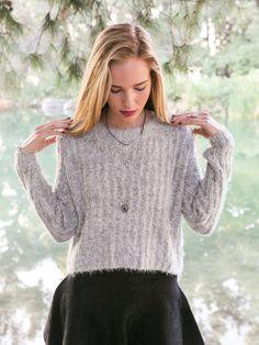 Ribbed Hi-Low Sweater