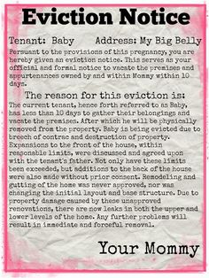 eviction notice pregnancy pinterest pregnancy baby eviction