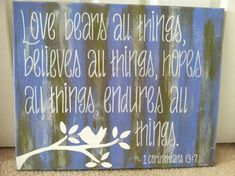 16x20 Bible Verse Canvas by ejocanvas on Etsy, $40.00