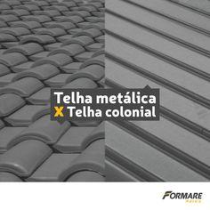 Na hora de construir um telhado, sempre bate aquela dúvida: telha metálica ou colonial? Além de serem melhores, as telhas metálicas diminuem os custos da obra e facilitam a manutenção e limpeza 👍 Não tenha dúvida, escolha telhas metálicas da Formare Metais ;) #Formare #FormareMetais #ObrasDeAço #Construção #EngenhariaCivil