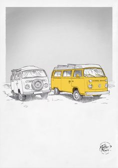 Volkswagen Bus, Vw T1, Vw Camper, Combi T2, Bus Art, Van Car, New Sticker, Camping Car, Campervan