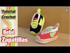 Cómo tejer Zapatillas, patucos, escarpines para bebé a crochet (1 de 2). Link download: http://www.getlinkyoutube.com/watch?v=_3bNt2U4Mkc