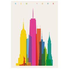 New York City Print in CMY - nice!