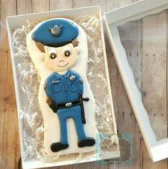 Giant custom made policeman sugar cookie Keri's Kreations