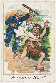 A Home Run, from the Baseball Comics series (T203), 1900. The Metropolitan Museum of Art, New York. The Jefferson R. Burdick Collection, Gift of Jefferson R. Burdick (Burdick 246, T203.6))