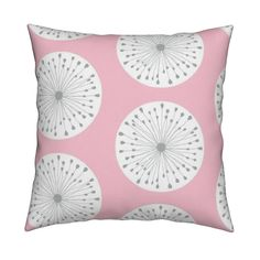 Catalan Throw Pillow featuring Pink Starburst Mod by thepinkhome | Roostery Home…