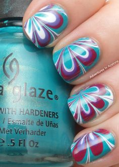 Adventures In Acetone: Flowery Water Marble!