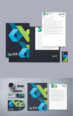 B+D Projects branding design on Behance