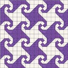 Image result for snail's trail quilt pattern