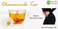 Chamomile tea is said to aid in digestion and relieve menstrual cramps. http://www.teasyteas.com/chamomile-tea/