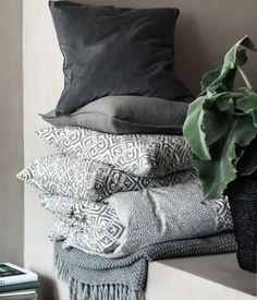 Perlestrikket pledd | Grå | Home | H&M NO