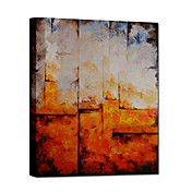 Hand Painted Oil Painting Abstract Orange wit... – USD $ 79.99
