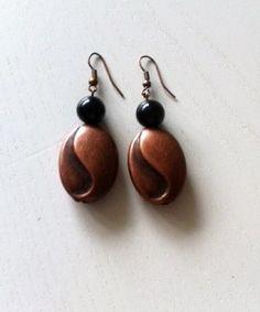 Oorbellen Black Copper, ze horen bij de Ketting Black Copper. Prachtige set voor het najaar & nu te koop bij Ekster Jewels.