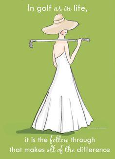 Art For Women Inspirational Art Golf Art by RoseHillDesignStudio