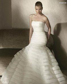 MORE INFO: Pronovias San Patrick Bridal Gown ROSETON  http://www.trudysbrides.com/Pronovias-Bridal-Gowns.asp