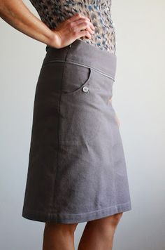 Nicole at Home // self drafted skirt
