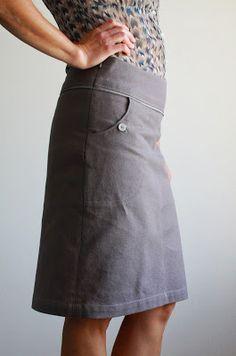 Nicole at Home // self drafted skirt
