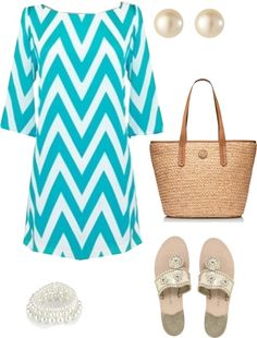 """""""Turquoise Chevron"""" by pinkprep37 ❤ liked on Polyvore"""