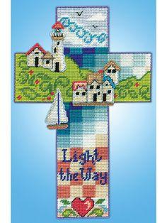 Plastic Canvas Gift Designs - Nautical Cross Plastic Canvas Kit